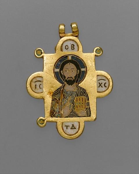 Pendente bizantino a due lati con la Vergine e il Cristo Pantocratore (ca. 1100) (Metropolitan Museum of Art)