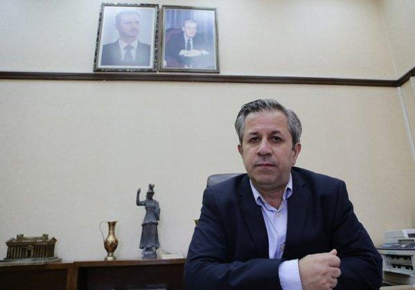 Il capo delle Antichità Siriane Maamoun Abdulkarim nel suo ufficio a Damasco (Louai Beshara/AFP)