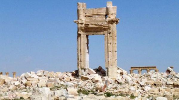 I resti del tempio di Bel (AFP)