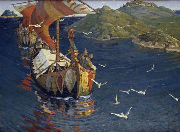 Ospiti da oltremare. Nikolaj Roerich, 1901 (Wikimedia)