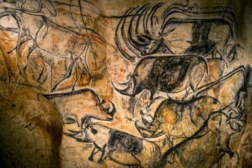 Dettaglio della riproduzione della grotta Chauvet (JEFF PACHOUD AFP/Archives)