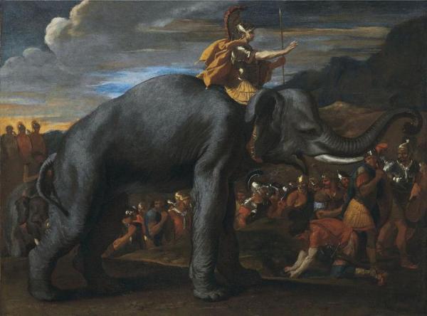 Annibale attraversa le Alpi su un elefante (Nicolas Pussin)