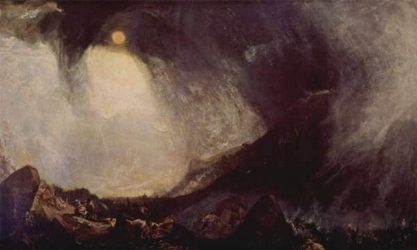 Bufera di neve: Annibale e il suo esercito attraversano le Alpi, di William Turner. Tate Gallery, Londra (Wikimedia)