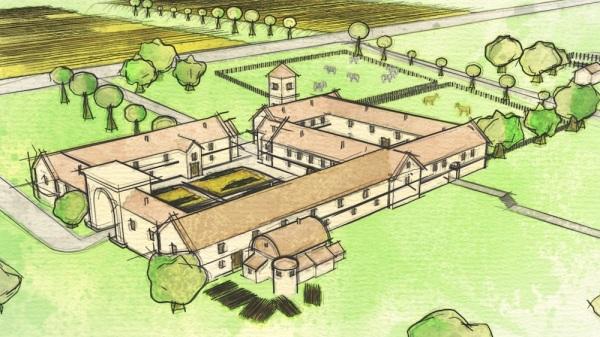 Ricostruzione della villa (Past Landscapes Project)