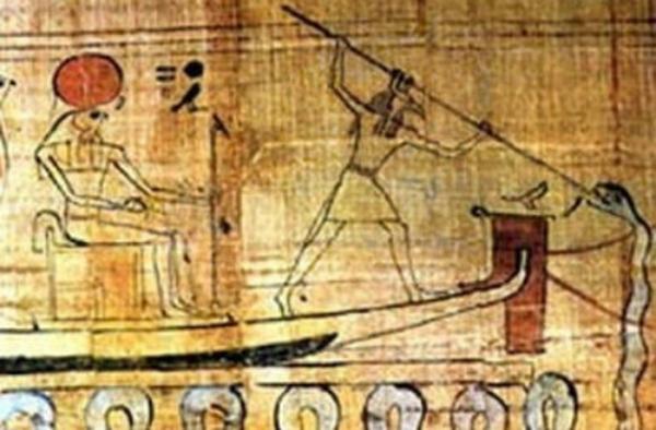 Set mentre trafigge Apopi, rappresentazione del buio e del Caos, Museo Egizio del Cairo (Wikimedia)
