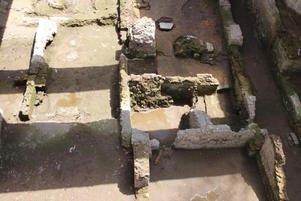 La caserma romana del II secolo ritrovata sotto la Metro C, foto Paola Mentuccia