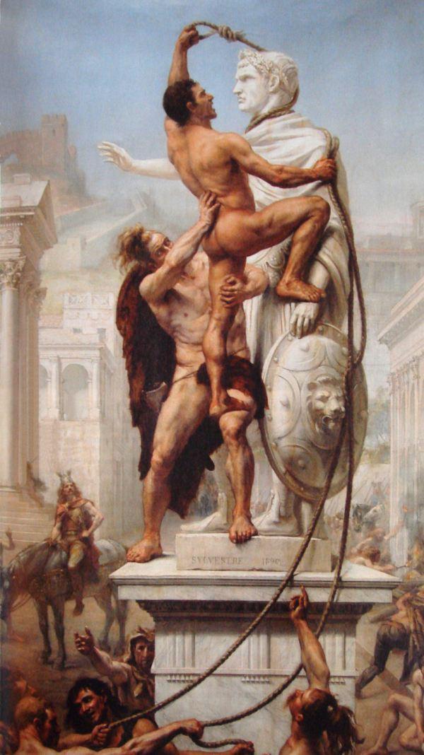 Sacco di Roma ad opera dei Visigoti in un quadro di JN Sylvestre del 1890 (Wikimedia)