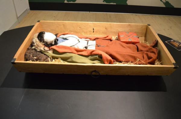 Ricostruzione della tomba (Museum Silkeborg)