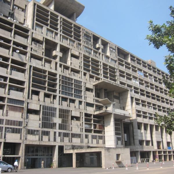Detail facade, Secretariat, Chandigarh (FLC/ADAGP)