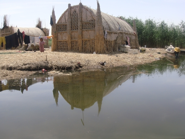 The Ahwar of Southern Iraq: Refuge of Biodiversity and the Relict Landscape of the Mesopotamian Cities; A view of the houses of reeds (Jasim Al-Asady)