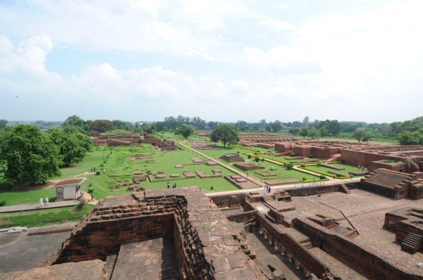 Excavated Remains of Nalanda Mahavihara: View of Excavated site from Site no. 03 (Janhwij Sharma)