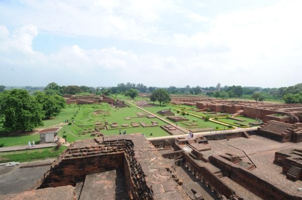 Excavated Remains of Nalanda Mahavihara: View of Excavated site from Site no. 03 (Janhwij Sharma)