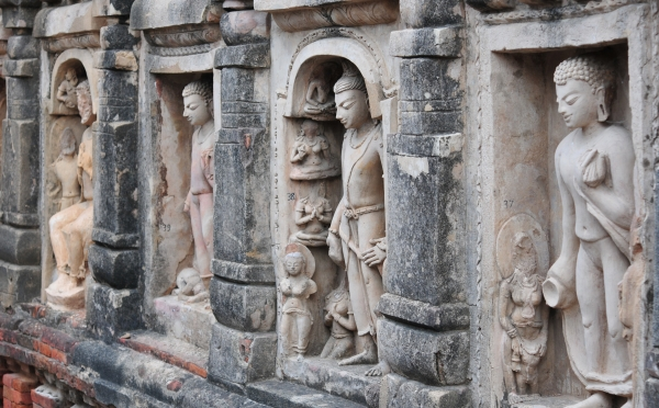 Excavated Remains of Nalanda Mahavihara: Stucco art of Site no. 03 (Rajneesh Raj)