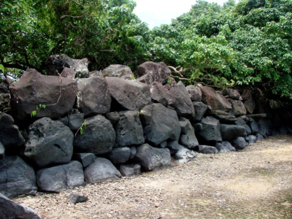 Nan Madol: Ceremonial Center of the Eastern Micronesia: Seawall of the islet of Lukopen Karian (Osamu Kataoka)