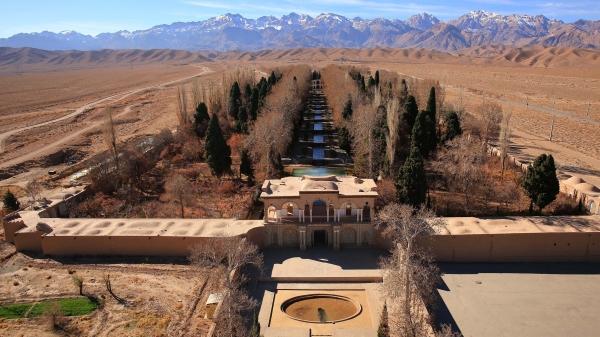 The Persian Qanat: Aerial View, Jupar, Bagh-e Shahzadeh (Mahan) (S.H. Rashedi)