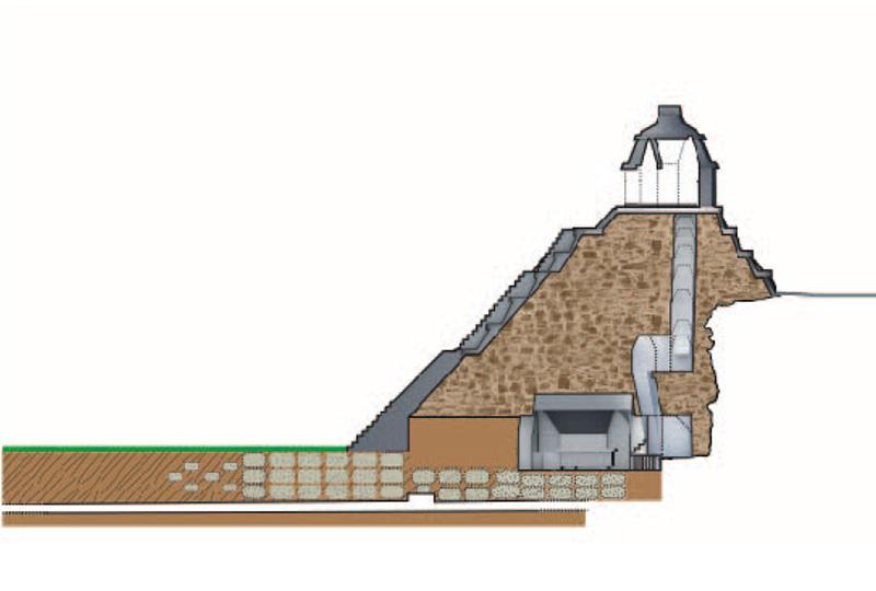 Alzato del tempio e del canale