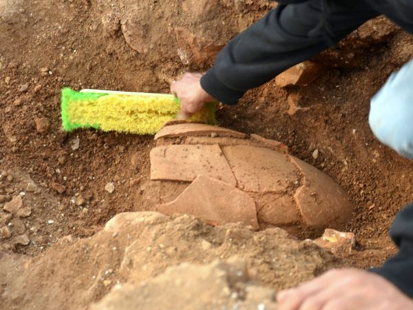 Dei vasi come questo hanno aiutato a datare gli eventi (Yoli Shwartz, Israel Antiquities Authority)