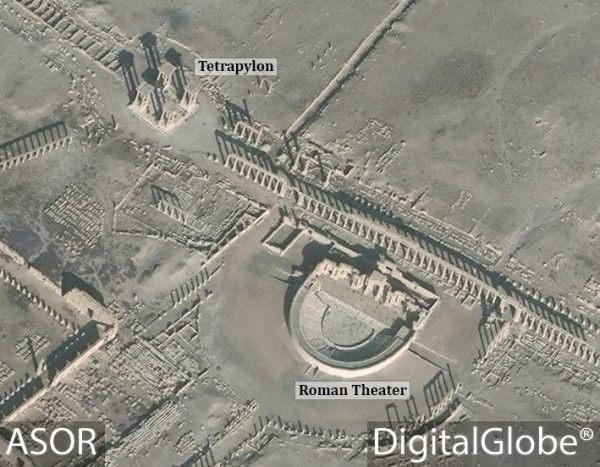 I siti prima della distruzione (DigitalGlobe)