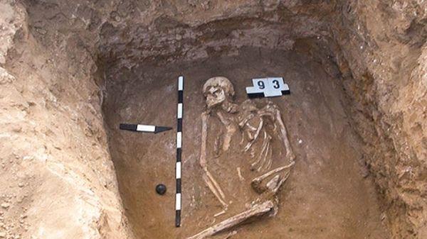 Scheletro di Jamna in una sepoltura nelle steppe russe (XVodolazx/Wikimedia Commons)