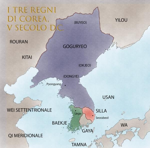 Three Kingdoms of Korea Baekje Silla Goguryeo Dongye Okjeo Buyeo Tamna Baekje Usan Gaya