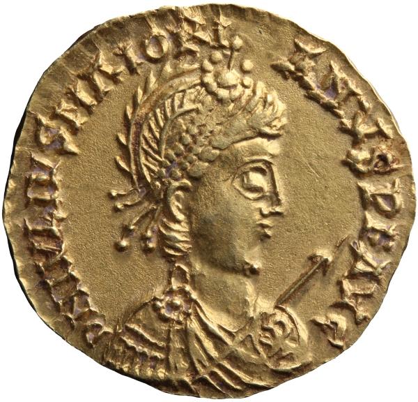 Maggioriano moneta solido impero romano