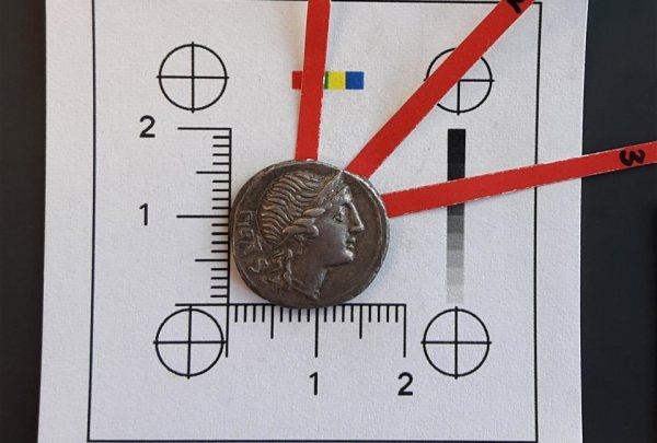 denario romano argento spagna annibale